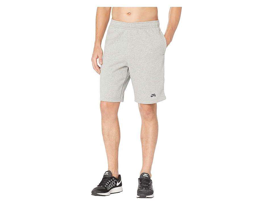 Nike SB SB Icon Fleece Shorts (Dark Grey Heather/Black) Men