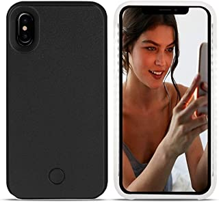Avkkey iPhone Xs MAX Led Case iPhone Xs MAX Selfie Light iPhone Case Great for a Bright Selfie and Facetime Illuminated Light Up Case Cover for iPhone Xs MAX 6.5''- Black