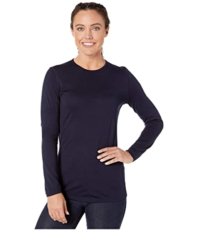 Icebreaker 200 Oasis Merino Baselayer Long Sleeve Crewe (Midnight Navy 1) Women
