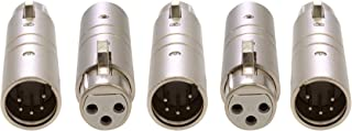Pack of 5 - Enttec 70029 Adapter 3 Pin Female to 5 Pin Male Connector for DMX Interface Controller Open Pro Mk2 ODE DMXIS D-Split