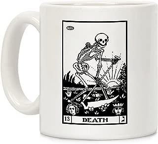 LookHUMAN Death Tarot White 11 Ounce Ceramic Coffee Mug