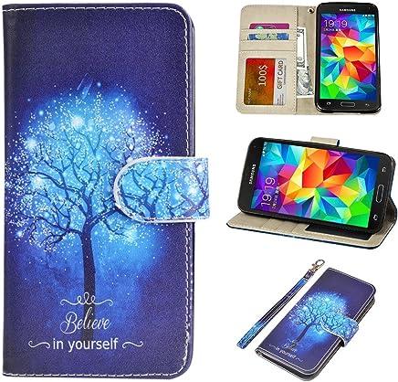 amazon com under $10 samsung galaxy s 5 cases cell phoness5 case, urspeedteklive galaxy s5 wallet case, premium pu leather wristlet flip case cover