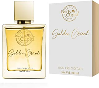 Body Cupid Golden Orient Perfume for Men & Women - Citrus, Floral, Spicy, Musky, Woody & Balsamic Notes - 100 ml