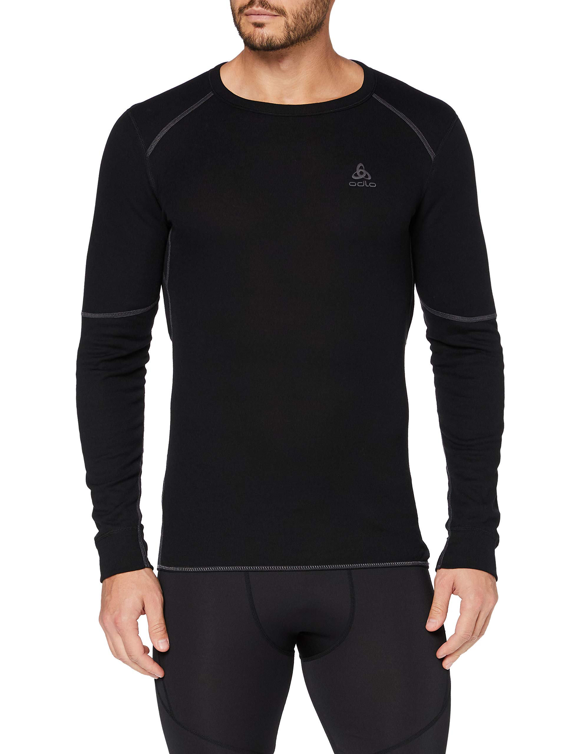 Odlo Herren Shirt Long Sleeve Crew Neck X-warm Unterhemd, Schwarz, L EU