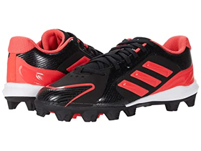 adidas Kids PureHustle MD Baseball (Toddler/Little Kid/Big Kid) (Core Black/Signal Pink/Footwear White) Girls Shoes