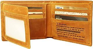 Ablibi Men's trifold Wallet to Our Grandson My Grandson's Front Pocket Wallet RFID Blocking Leather Vintage Travel Wallet ...