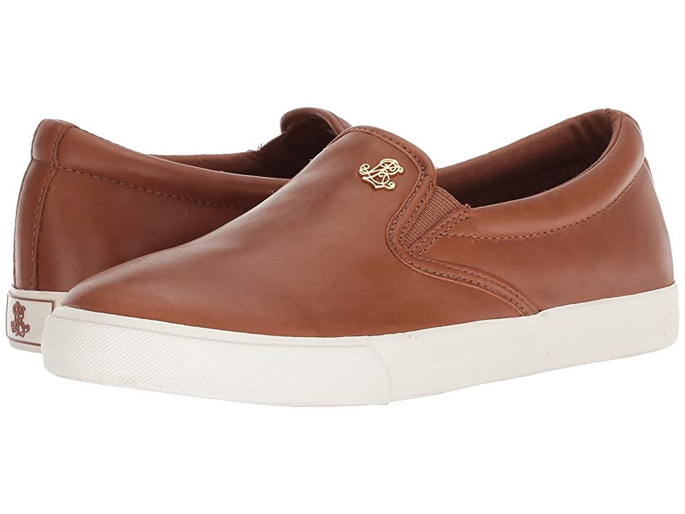 LAUREN Ralph Lauren Ria (Deep Saddle Tan Super Soft Leather) Women