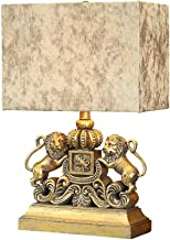 HZB American Lion Table Lamp European Style Bedroom Bed Luxury Personality Living Room Study Room Hotel Table Lamp