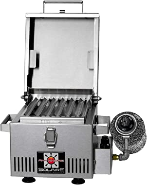 Solaire SOL-IR8A Anywhere Mini Personal Infrared Propane Gas Grill, Stainless Steel