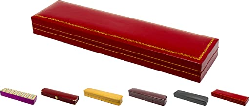 Novel Box Jewelry Bracelet Box in Red Leather + Custom NB Pouch