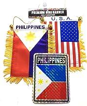 Filipino American Pride 2pc Philippines Flag and American USA Mini Flag Automobile car SUV Pickup Trucks Rv Home or Auto use