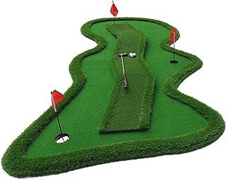 Golfmatten Putting Oefenmat Met Golfset, Indoor & Outdoor Golf Groene Mat, Kunstgras Golfmat, 1.5x3.5m