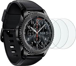 [3 stycken]OMOTON pansarglasfilm för Samsung Galaxy Watch 46 mm/Samsung Gear S3 frontier och Gear S3 Classic och, 9H hårdh...