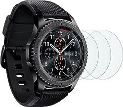 [3 Stück]OMOTON Panzerglasfolie für Samsung Gear S3 frontier und Gear S3 Classic und Samsung galaxy Watch 46mm, 9H Härte, Anti-Kratzen, Anti-Öl, Anti-Bläschen,lebenslange Garantie