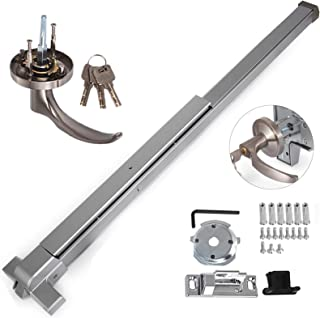 Happybuy Door Push Bar Panic Exit Device with Dogging Key and Exterior Lever Commercial Emergency Exit Bar Panic Exit Device for Wood Metal Door Panic Exit Bar (Push bar with Dogging Key and Lever)