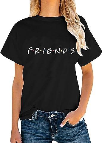 Sudadera Mejores Amigos Hombre y Mujer Camiseta Friends Serie TV Show Logo Camisas Manga Corta Adolescentes Chicas Blusa Lertras Boyfriend Swag ...