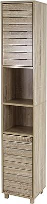 House & Homestyle - Armadietto Tallboy, 170,5 x 31,5 x 30 cm, colore: Marrone