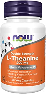 NOW Supplements, L-Theanine 200 mg with Inositol, Stress Management*, 60 Veg Capsules