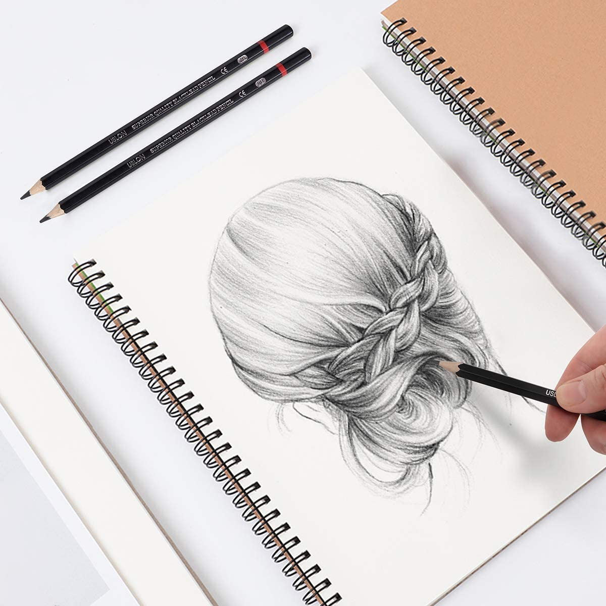 Professional Drawing Sketching Pencil Set   200 Pieces Art Drawing Graphite  Pencils200B   20H, Ideal for Drawing Art, Sketching, Shading, for Beginners  ...