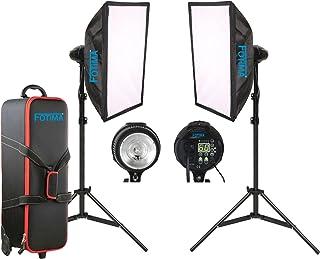 Fotima FTF-400 - Kit estudio flash, 2 x 400 W (con adaptador Bowens)