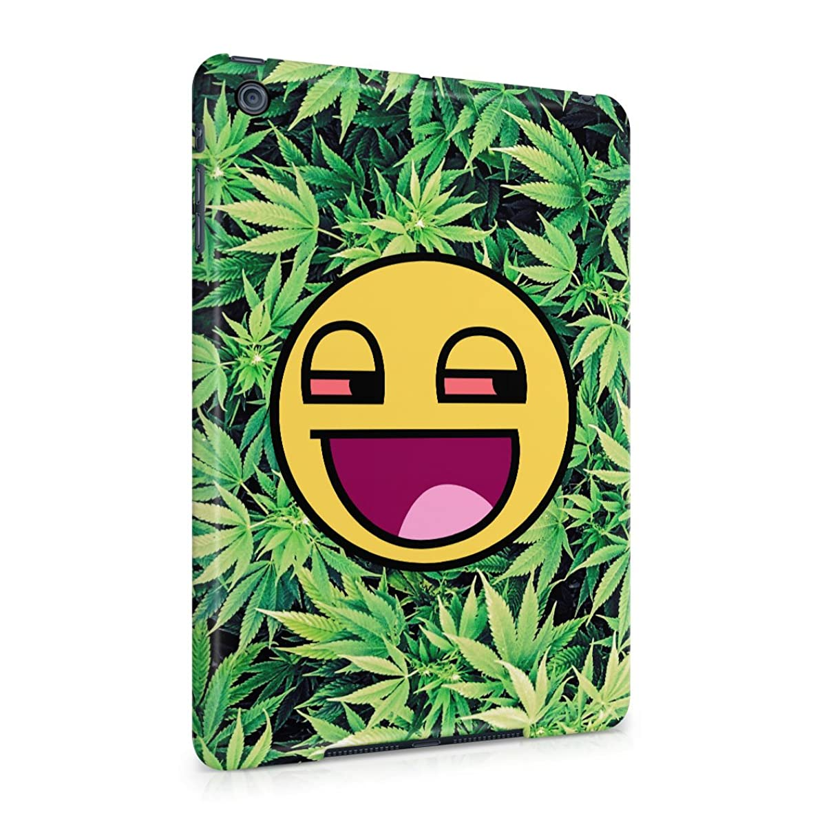 Stoned Smiley Stoner Vaper Face Smoke Weed Pattern Plastic Tablet Snap On Back Case Cover Shell For iPad Mini