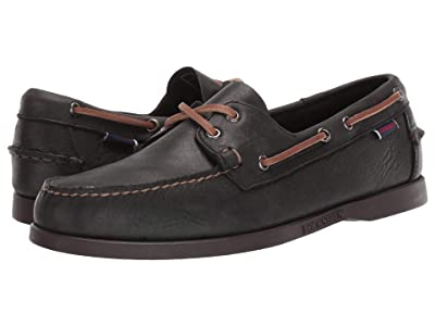 Sebago Docksides Portland Tumbled Matte (Black/Dark Brown) Men