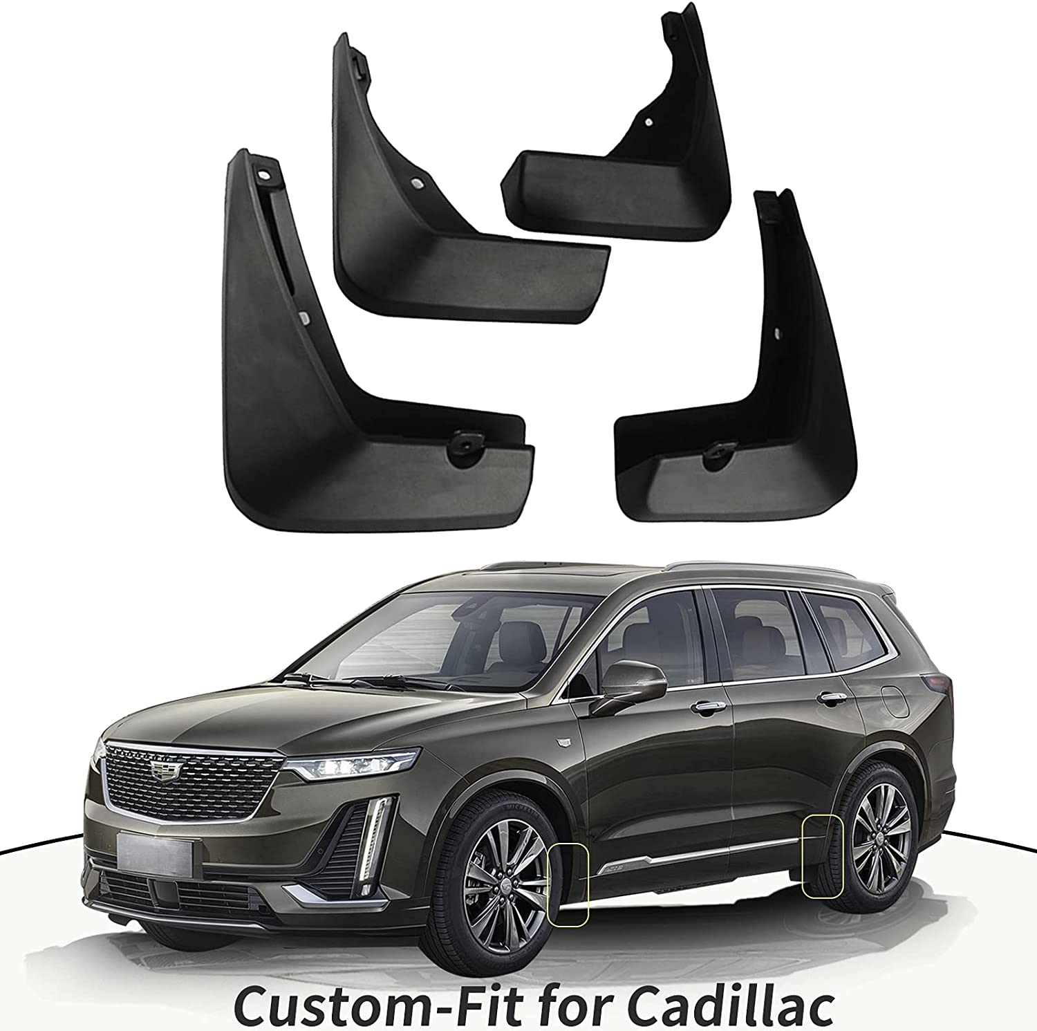 Custom-Fit Mud Flaps Kit Ranking TOP9 for Cadillac XT4 CT4 CT5 XT5 X Surprise price CT6