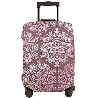 贅沢な淡紅スタイルのデザインとパターンの背景 スーツケースカバー 伸縮弾性素材 スーツケース保護カバー ラゲッジカバー 通気性 傷防止 防塵カバー S-XL