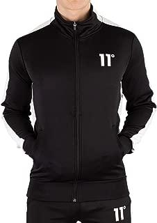 11 Degrees Men's Zip Poly Panel Track Jacket, Black