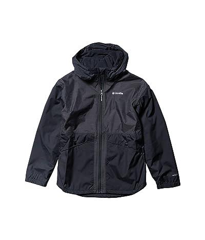 Columbia Kids Rainy Trails Fleece Lined Jacket (Little Kids/Big Kids) (Black) Girl