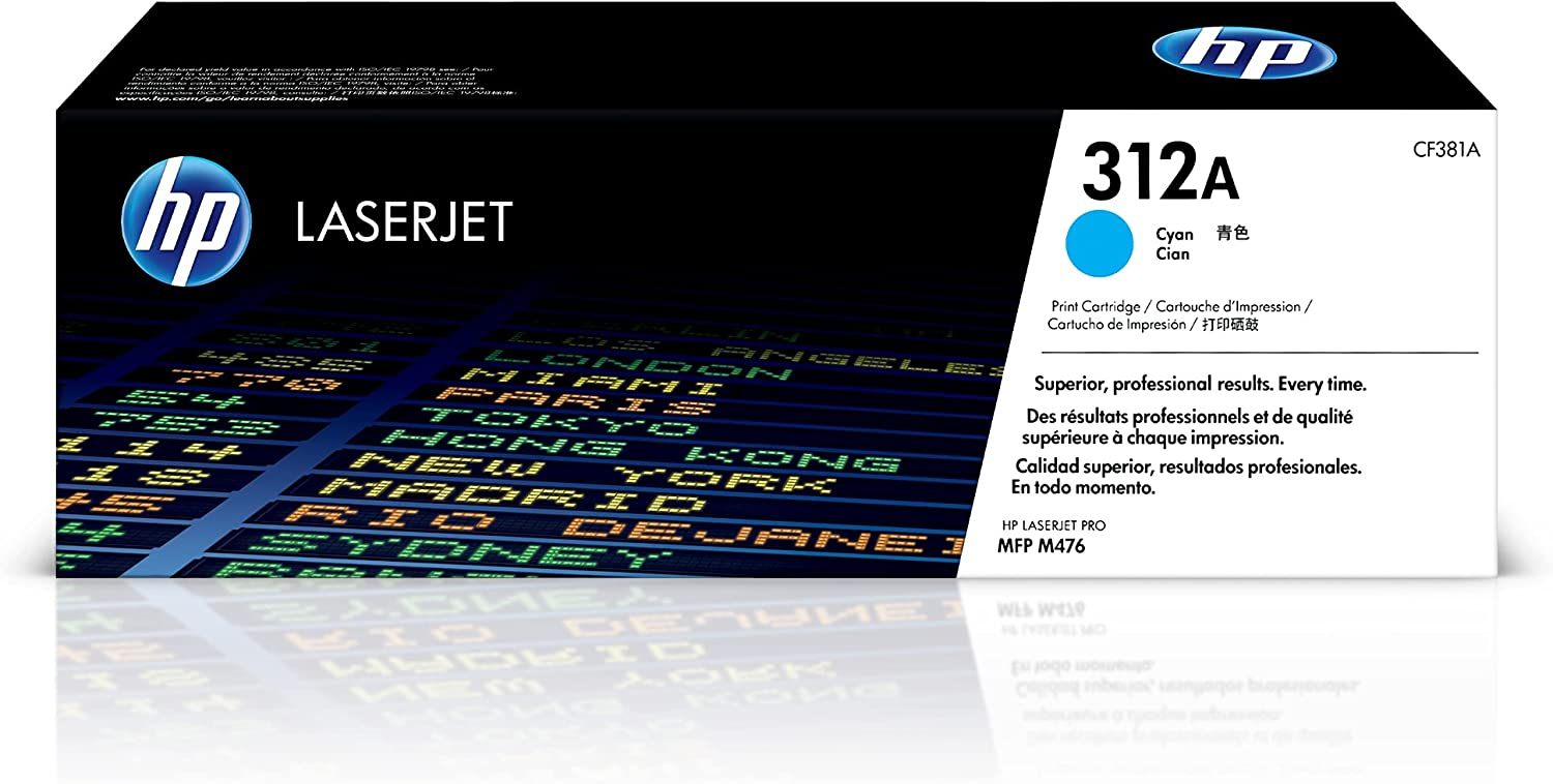 HP 312A   CF381A   Toner-Cartridge   Cyan   Works with HP Color LaserJet Pro M476