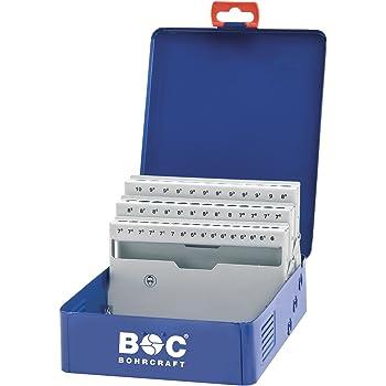 Bohrcraft M 601 - Caja de metal vacía (para brocas helicoidales de acero de alta velocidad 388, capacidad para 41 piezas): Amazon.es: Bricolaje y herramientas