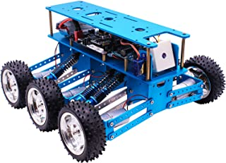 Yahboom Robot Car for Arduino UNO with Camera 6WD Off-Road DIY Kit for Adults Programming, Education, Learning, Subject Research, Science Innovation, Competition