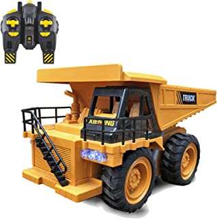 Construction Vehicle Model Has A 6-Channel Rechargeable Remote Control Dump Truck 2.4G Electric Dump Truck On-Board Soil S...