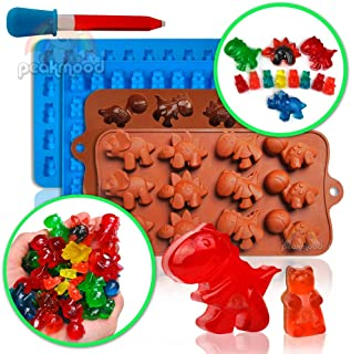 gummy bear mold | gummy dino mold - silicone molds for gummies candy molds & gelatin molds for gummy bear candy molds