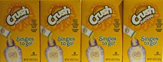 Crush Pineapple Singles to Go Sugar Free Non-Carbonated Low Calorie Drink Mix 6 Packets per Box (4 Boxes)