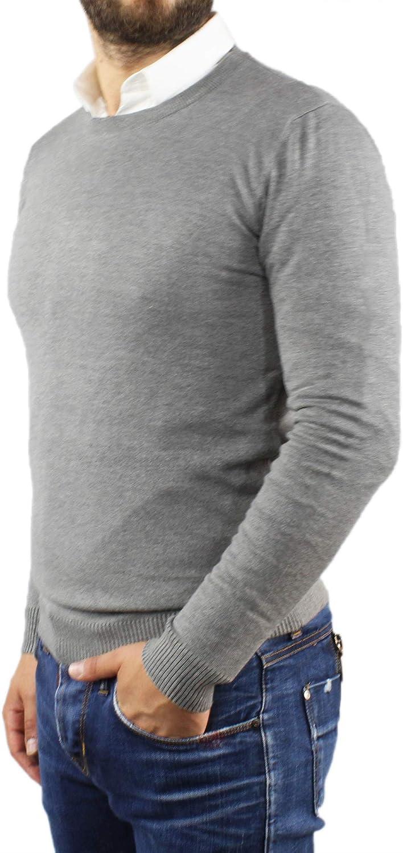 Maglione Uomo Lana Cashmere Invernale Girocollo Classico Blu Nero Bordeaux Bianco Grigio Azzurro Senape Maglioncino Slim Fit Elegante Manica Lunga Casual Golfino Pullover