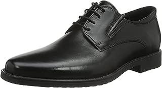 Men's Adam Black Leather Dress Oxford 44M