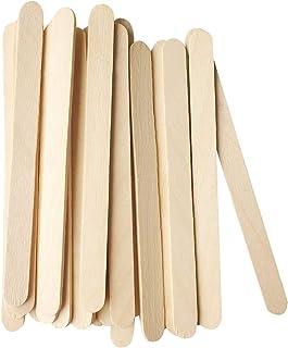 GJT 100 Pcs Ice Cream Sticks Wooden Popsicle Sticks,Wooden Garden Plant Labels for DIY Creative Designs