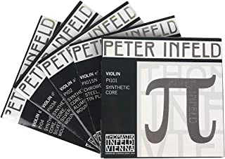 VH Workshop-Thomastik Peter Infeld (PI101) Violin String Full set ,Tin Plated E--Silver D,Medium Gauge, Ball-End,Made in Austria