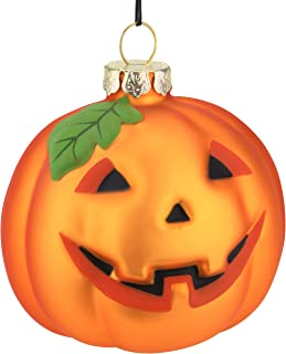 Tree Buddees Jack-O-Lantern Pumpkin Decoration Blown Glass Ornament Halloween, Thanksgiving, Christmas Ornaments