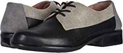 Soft Black Leather/Speckled Beige Leather/Smoke Gray Nubuck