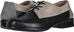 Soft Black Leather/Speckled Beige Leather/Smoke Gray Nubuck