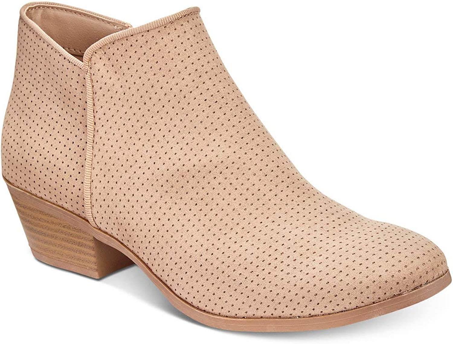 Style & Co. Womens Warrenn Fabric Almond Toe Ankle Fashion Boots