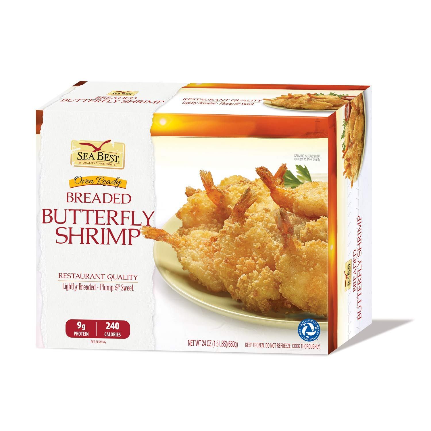 Amazon Com Sea Best 21 25 Butterfly Breaded Shrimp 24 Ounce Coffee Grocery Gourmet Food