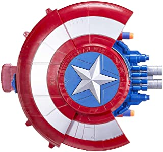 Toy Shield Guns that Shoot Soft Bullets Compatible with Nerf Foam Darts for Captain America Pretend Play
