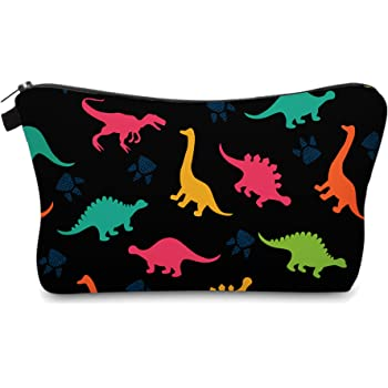Cute Travel Makeup Bag Cosmetic Bag Small Pouch Gift for Women (Dinosaur)