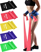 Allvodes Exercise Bands for Working Out, Resistance Bands Set with 5 Resistance Levels, Skin-Friendly Elastic Bands with C...