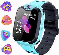 Smartwatch para Niños con Juegos MP3 - Reloj Inteligente Pulsera con 2 vías Llamada Música Despertador 7 Juegos Cámara de Infantil Reloj Digital para Juventud Niña de 3 a 12 años (X9 Juego MP3-Azul)