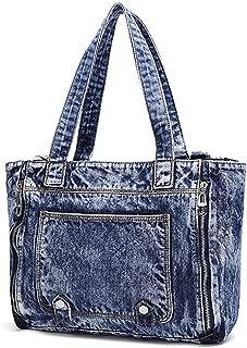 Women Casual Denim Shoulder Bag Tote Handbag